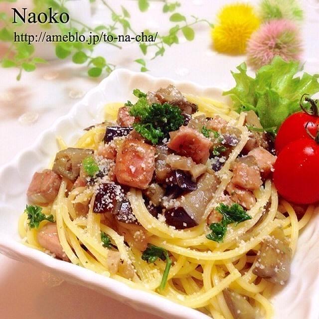 【常備菜から作る】とろ茄子ベーコンのスパゲティー