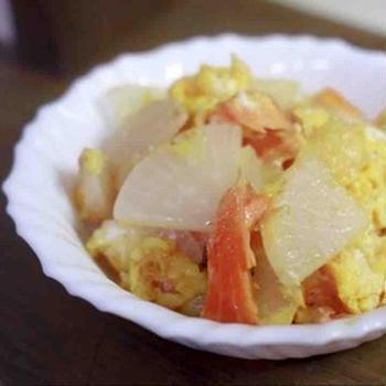 鮭大根の卵炒め