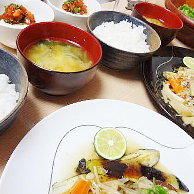 8/14の晩御飯作りの流れをレポート的に☆メインはすだちおろしの和風ハンバーグ。