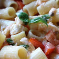 チェリートマトとモッツァレラチーズの冷製パスタ  by Salute a Tavolaさん