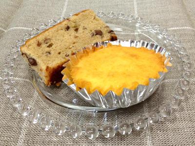 マドレーヌとあずきケーキ