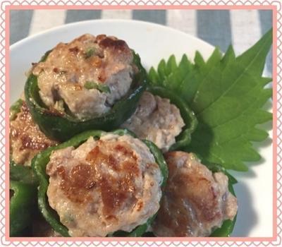 豚こま肉で☆ピーマンバーグ☆食べ応え◎お弁当おかずにも♫