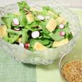 胡麻ドレッシングdeラディッシュとカリカリ油揚げのサラダ