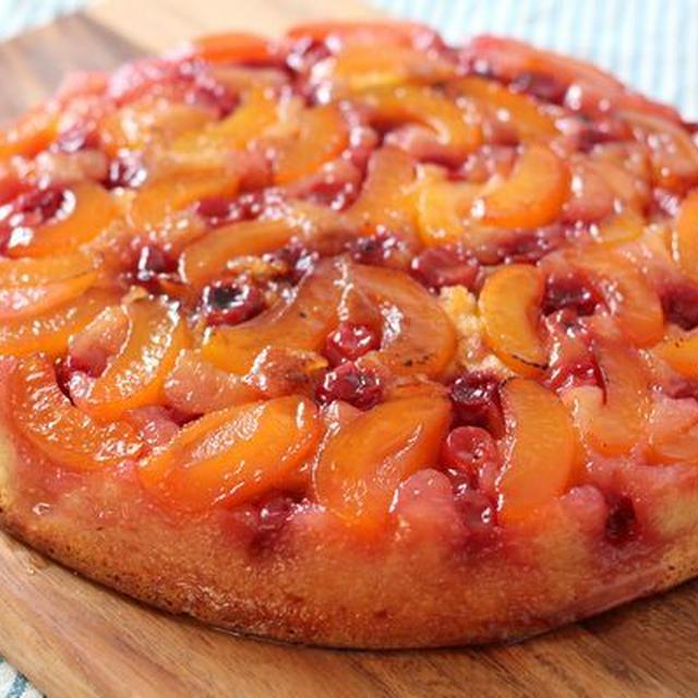 ビタミンカラーのアップサイドダウンケーキ