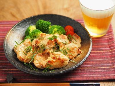 鶏むね肉の辛子明太子焼き