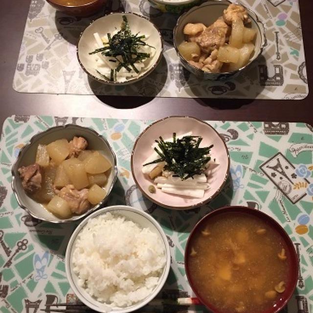 【夕食メニュー】居酒屋メニュー!鶏もも肉と大根のコクうま煮!