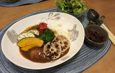 彩り野菜のカレーの晩ご飯 と 花火ナイト♪