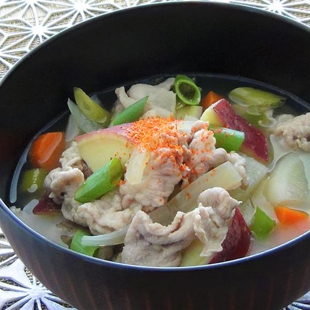 Japanese Dish♪ Pork Miso Soup with Vegetables♪