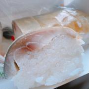 川新さんの鯖棒寿司と松の花で一献