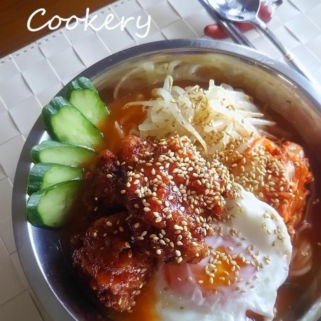 冷製★ヤンニョムチキンククス ~양념치킨 국쑤~