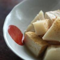 ねばり芋と厚揚げのほっくり煮物