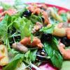 マッシュルームとブラックオリーブのサラダ