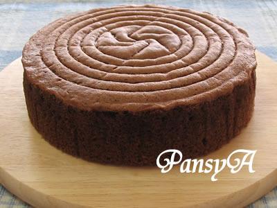 チョコレート(ココア)のスポンジケーキ (15・18・20~21cm丸型)☆クリスマスケーキ・バレンタイン・誕生日に♪