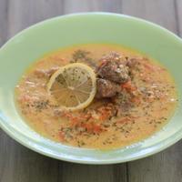 牛肉とお米のレモンエッグスープ*ロッジブランドサイトレシピ