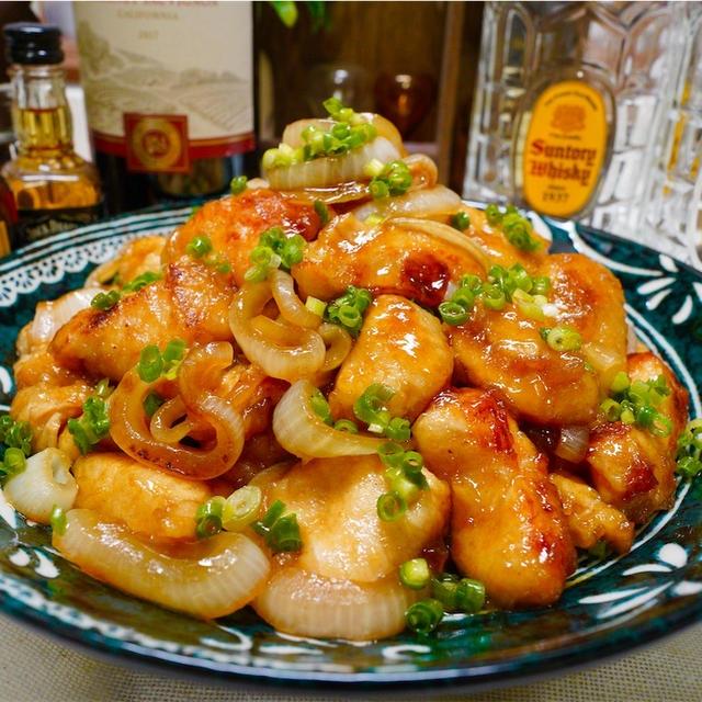 【レシピ】鶏むね肉と玉ねぎの焼き肉ダレ炒め