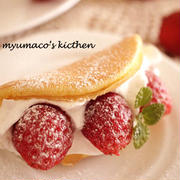 フルーツ挟んで満足度アップ!ふわふわ食感♪「オムレット」レシピ
