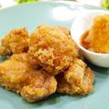【和食】さっぱり!「鶏から揚げのおろしポン酢のっけ」&ひらひら人参のサラダ&たたき胡瓜の浅漬け