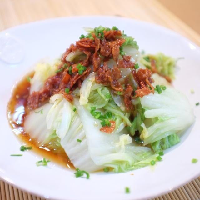 ささっと簡単!さっぱり美味しい♡カリカリベーコンのホットサラダ♪