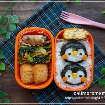 【娘のオベントウ】 ペンギンのお弁当