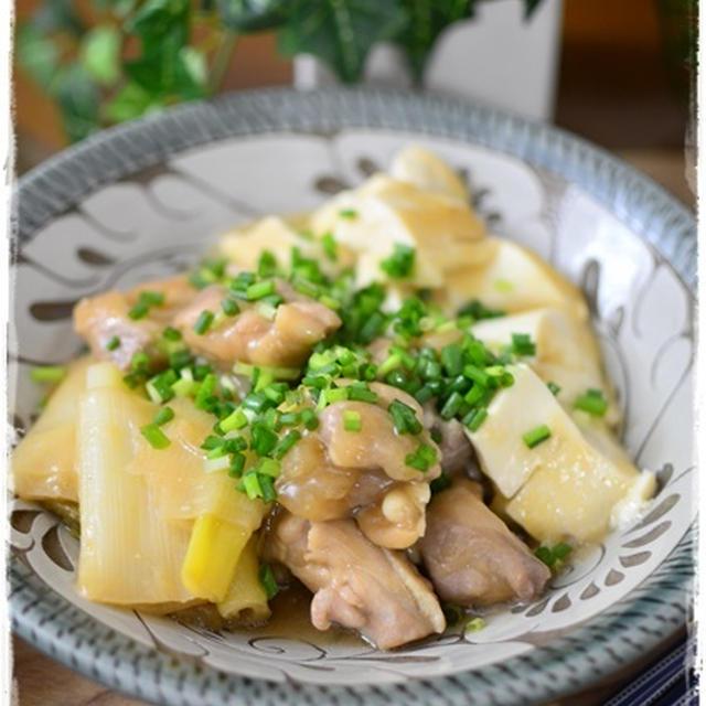 圧力鍋で2分!ほっこりトロトロ鶏肉と豆腐の白味噌煮