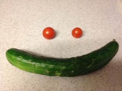 収穫野菜で、サラダ♪