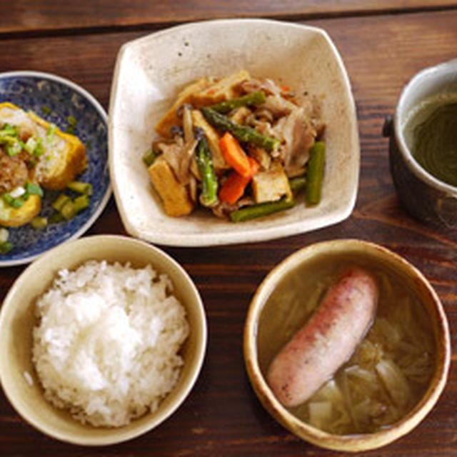 厚揚げと野菜の味噌炒め