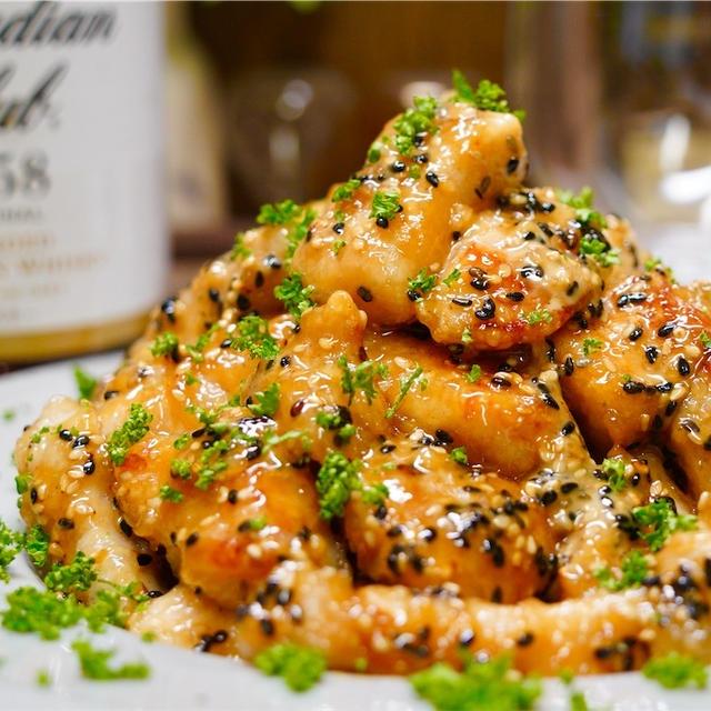 【レシピ】鶏むね肉でやみつきオイマヨごまチキン