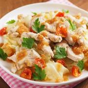 しっとり鶏むね肉とキャベツの温サラダ 、 かちかちプレス