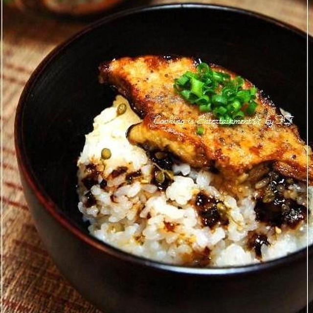 ご褒美飯★フォアグラ丼★~山椒ごはんと フォアグラのバルサミコ醤油焼き