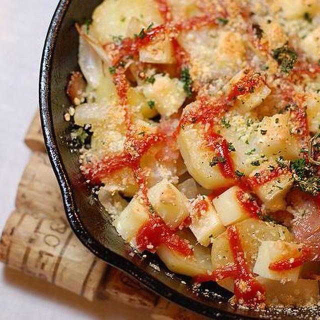 【小岩井オードブルチーズ】でポテトとベーコンのチーズ焼き