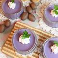 紫芋のパンナコッタ