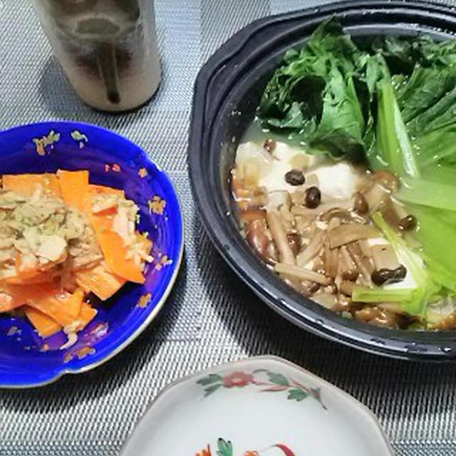 野菜まみれの夜食(笑)
