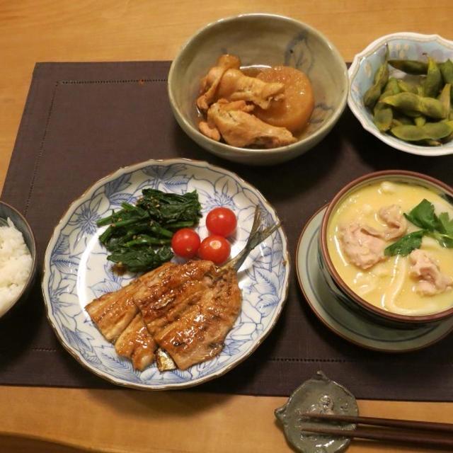 秋刀魚の蒲焼&小田巻蒸し: 和の晩ご飯♪