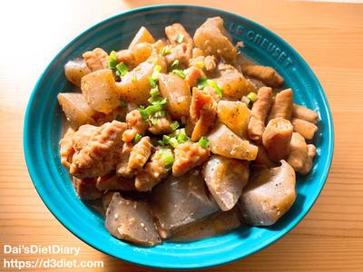 【レシピ】豚モツとこんにゃくの味噌煮