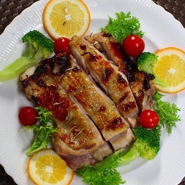 手抜き料理を本格的に 塩麹鶏肉のローズマリー焼き