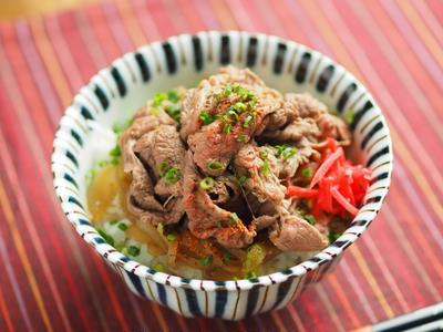 しゃぶしゃぶ牛丼、赤身の牛肉もこれで美味しい!