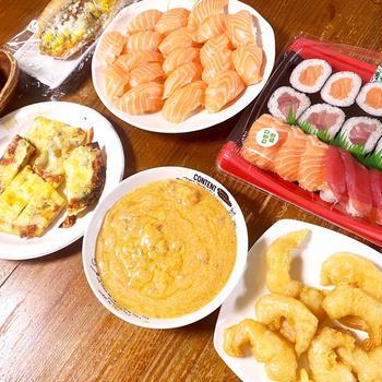 最近の晩御飯とコストコレポ(とろけるゼリー、ポークビッツ、ブリカマ)