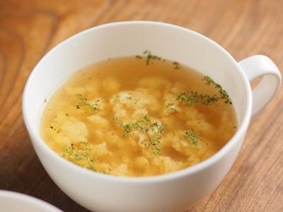 イタリアン卵スープ、簡単、ふわふわスープ
