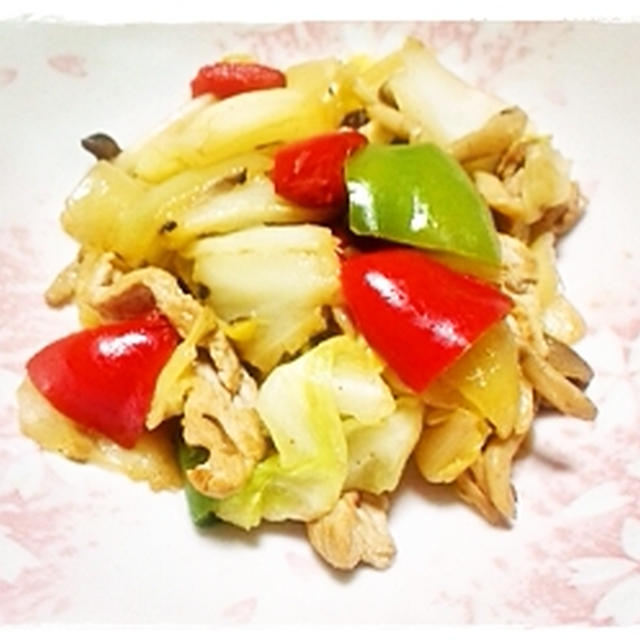 スパイスカレーの野菜炒め