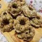 ナツメグ入りクルミと紅茶葉の焼きドーナツ