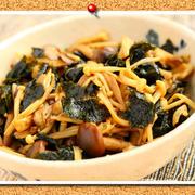 きのこと海苔の簡単常備菜。