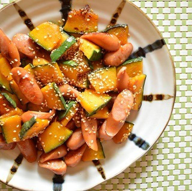 簡単!お弁当にも「かぼちゃとウインナーの甘辛炒め」