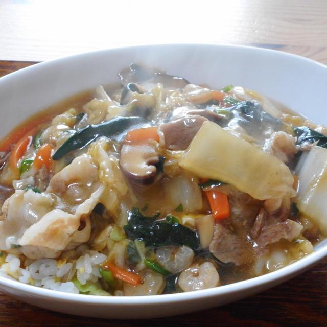 白菜と豚肉の中華丼