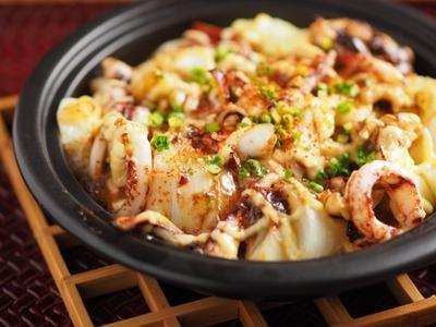 イカゲソと長芋のマヨネーズ焼き、居酒屋風マヨネーズグラタン