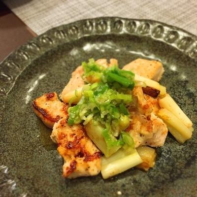 食材2つ♡鶏ムネ肉で柔らかネギ塩レモンだれ*さくら鶏