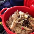 オリーブオイルと粉チーズで頂く♡洋風舞茸炊き込みご飯♪ by おかちまいさん