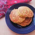 【オートミール】乳・小麦粉なし!ふっくらしっとり♪オートミールと豆腐のグルテンフリーパンケーキ