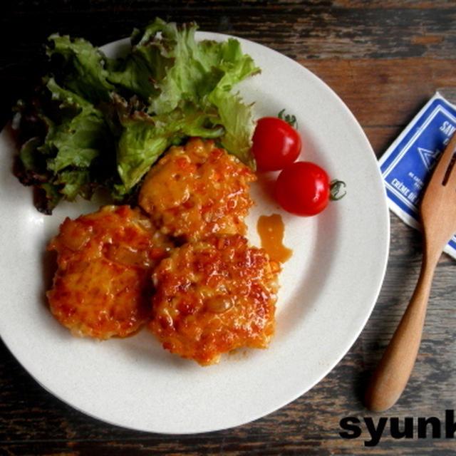 【簡単!!】にんじんと玉ねぎの鶏つくね照り焼き&塩