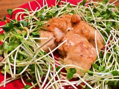 安い鶏胸肉を美味しく食べる「胸肉の味噌マヨポン酢がけ」