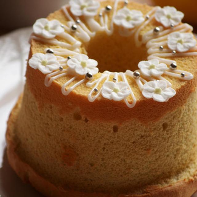 レモンのデコレーションシフォンケーキ